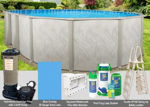 "12'x24'x52"" Bristol Oval Pool Package"