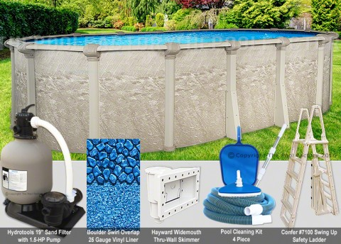 """15'x24'x52"""" Cameo Oval Pool Package"""