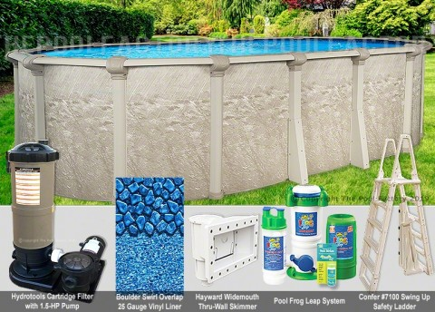 "8'x12'x52"" Cameo Oval Pool Package"