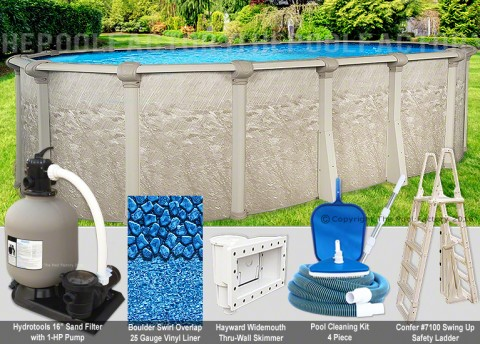 """12'x18'x52"""" Cameo Oval Pool Package"""