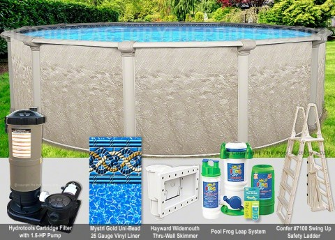 "18'x54"" Cameo Round Pool Package"