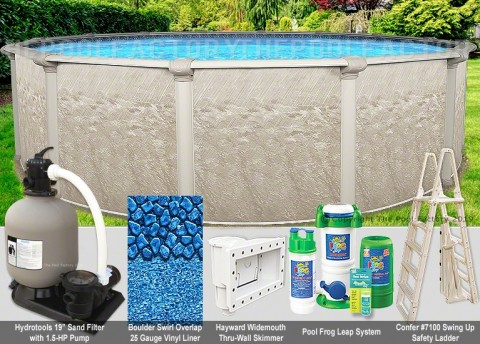 "24'x48"" Cameo Round Pool Package"