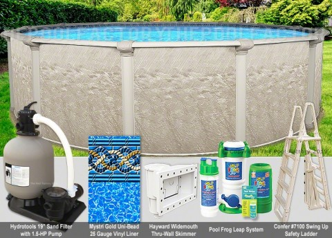 "24'x54"" Cameo Round Pool Package"