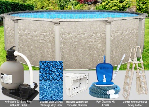 "30'x52"" Cameo Round Pool Package"