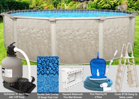 "18'x48"" Cameo Round Pool Package"