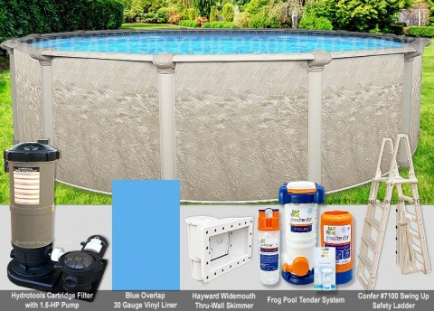 """12'x52"""" Cameo Round Pool Package"""