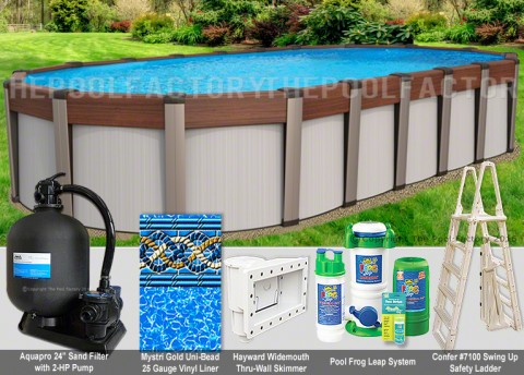 "18'x33'x54"" Contempra Oval Pool Package"