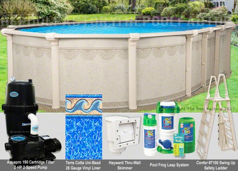 "15'x23'x52"" Hampton Oval Pool Package"