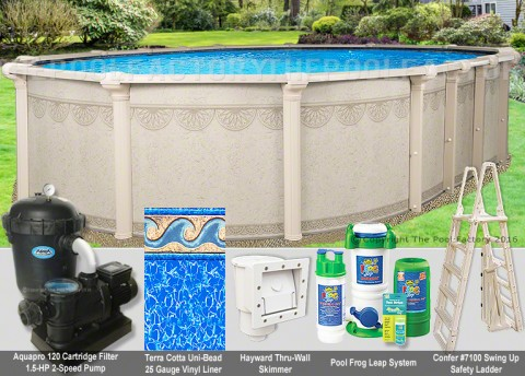"12'x24'x52"" Hampton Oval Pool Package"