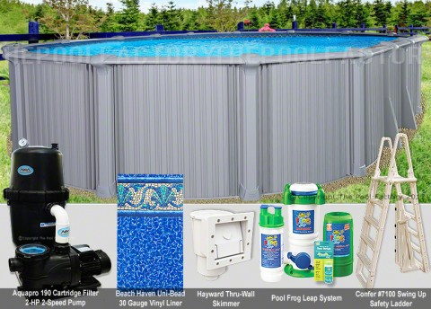 "18'x40'x54"" Intrepid Oval Pool Package"