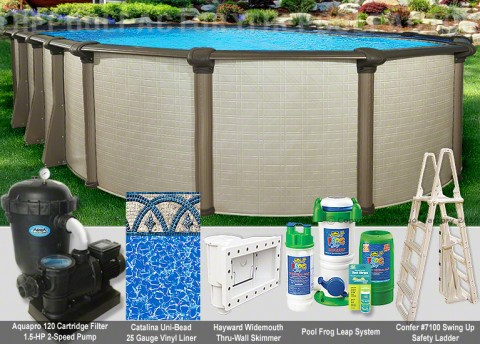 "8'x12'x54"" Melenia Oval Pool Package"