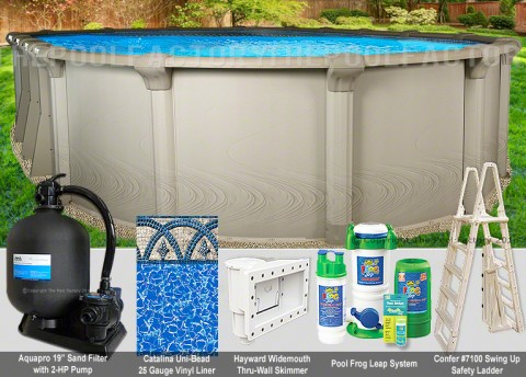 "12'x24'x54"" Quest Oval Pool Package"