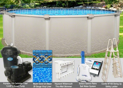 "21'x52"" Saltwater 5000 Round Pool Package"