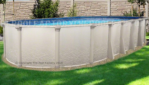 "12'x24'x52"" Saltwater 5000 Oval Pool"