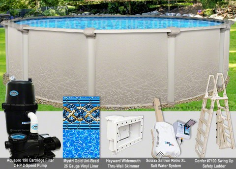 "30'x52"" Saltwater 5000 Round Pool Package"