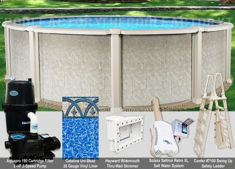 "27'x54"" Saltwater 8000 Round Pool Package"