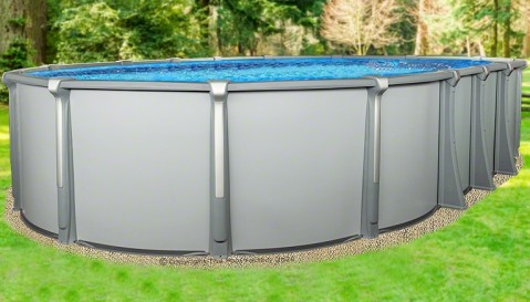 """18'x33'x54"""" Saltwater Aurora Oval Pool with Resin Composite Wall"""