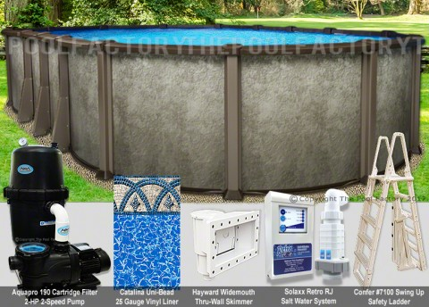 "18'x40'x54"" Saltwater LX Oval Pool Package"