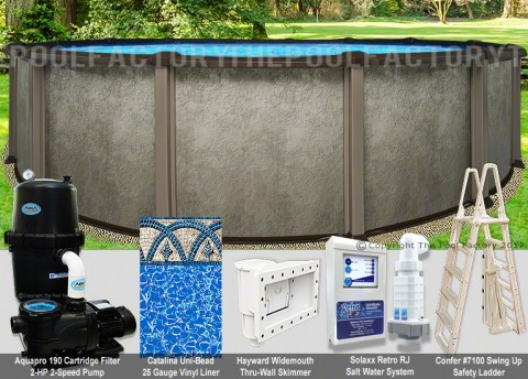 "33'x54"" Saltwater LX Round Pool Package"