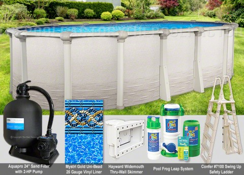 "18'x40'x54"" Signature RTL Oval Pool Package"