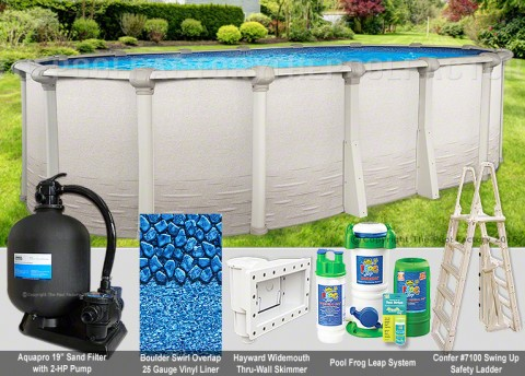 "10'x19'x52"" Signature RTL Oval Pool Package"