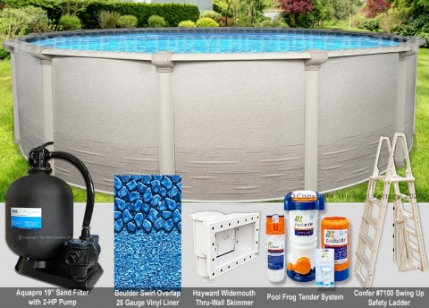"""15'x52"""" Signature RTL Round Pool Package"""