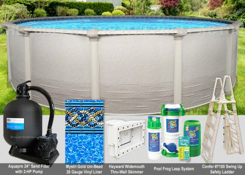 "27'x54"" Signature RTL Round Pool Package"