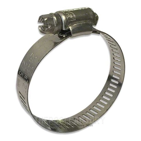 "Stainless Steel Clamp for 1 1/4"" - 1 1/2"" Hose"