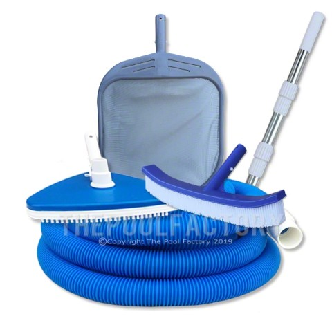 Deluxe Pool Cleaning Kit - 5 Piece with 30' Vacuum Hose