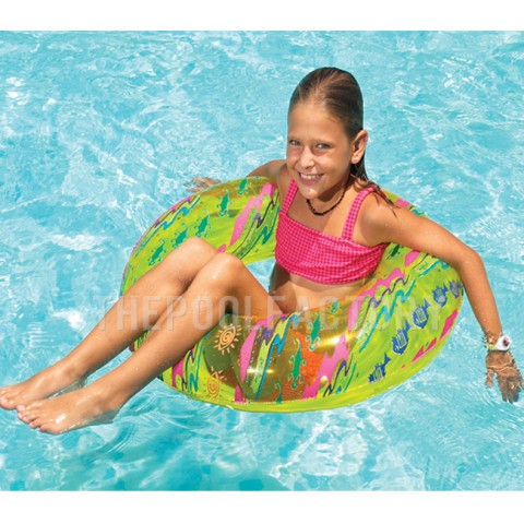 "Swimline 30"" Printed Swim Ring (Green)"