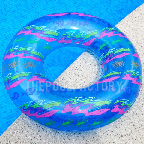 "Swimline 30"" Printed Swim Ring (Blue)"