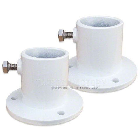 Aluminum Deck Ladder Flanges Set of 2