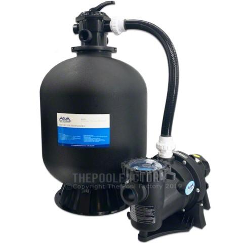 "AquaPro 24"" Sand Inground Pool Filter System with 1.5-HP Apex Self Priming Pump"