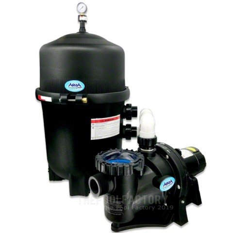 AquaPro 425 SQ. FT. Mega Quad Cartridge Inground Pool Filter System with 1.5-HP Apex Self Priming Pump