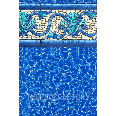"""15'x30'x52"""" Oval Esther Williams Beaded Beach Haven Liner - 40 Gauge"""