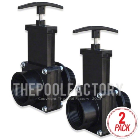 Slice Valve - Shut off Valve for Above Ground Pool Filters (2-Pack)