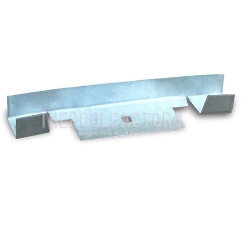 Bottom Straight Side Track/Rim Connector for Oval Sharkline Pools