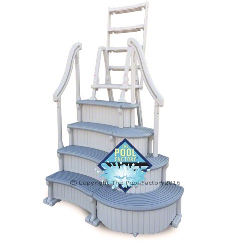 Confer Curve Deluxe Step with Outside Ladder (shown in swing-up safety position)