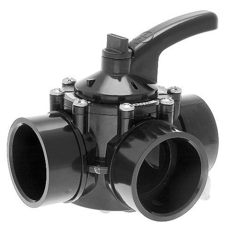 "Hayward CPVC 3 Way - Port Diverter Valve 1.5"" PSV3S"