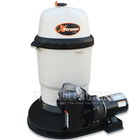 Hayward XStream 100 Cartridge Filter System 1-HP Power-Flo Pump