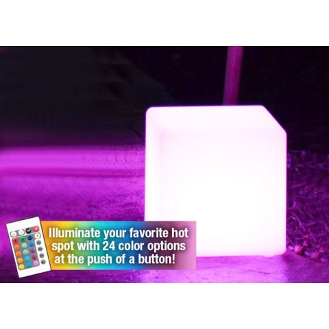 """Main Access 8"""" Cube LED Light Includes Remote Control"""