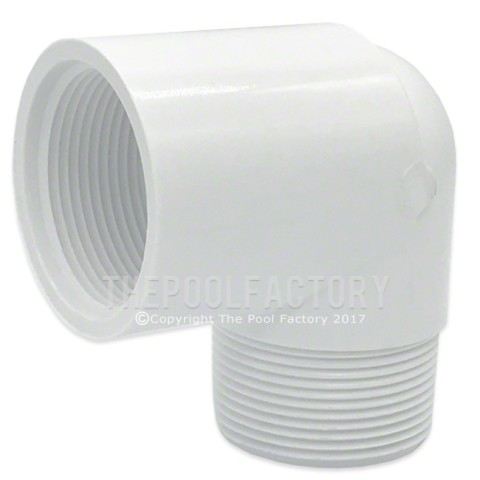 "Lasco 1.5"" MPT x 1.5"" FPT (Male x Female) 90 Degree Street Elbow Adapter Fitting 412-015"