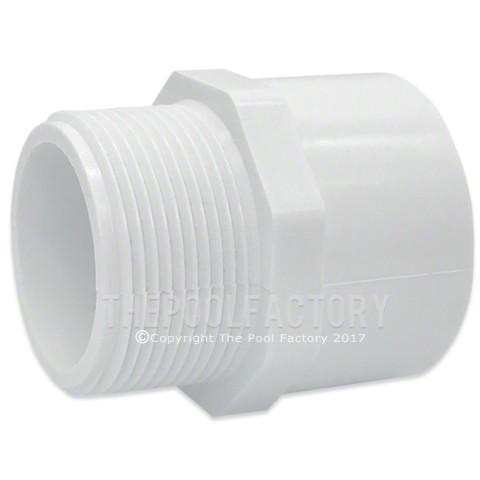 "Lasco 1.5"" MPT x 1.5"" SKT (Male x Slip) Adapter Fitting 436-015"