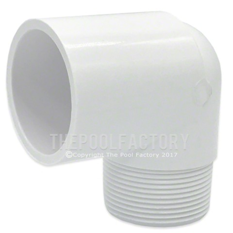 "Lasco 1.5"" MPT x 1.5"" SKT (Male x Slip) 90 Degree Street Elbow Adapter Fitting 410-015"