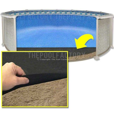 10'x21' Oval Armor Shield Liner Floor Pad