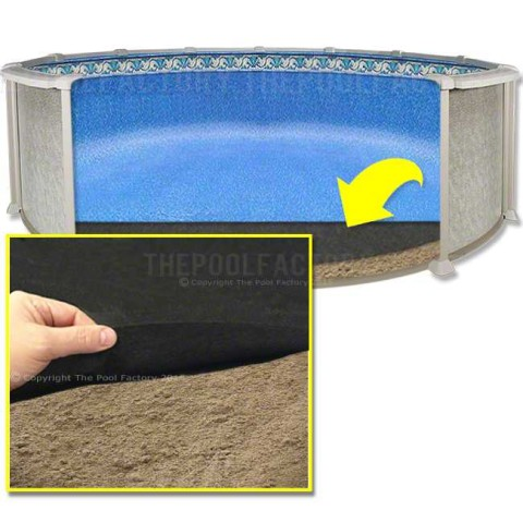 Liner shield pool floor bottom pad