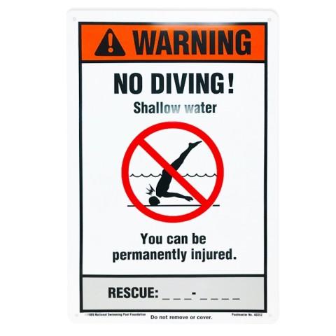 "12""x18"" NSPF No Diving Sign"
