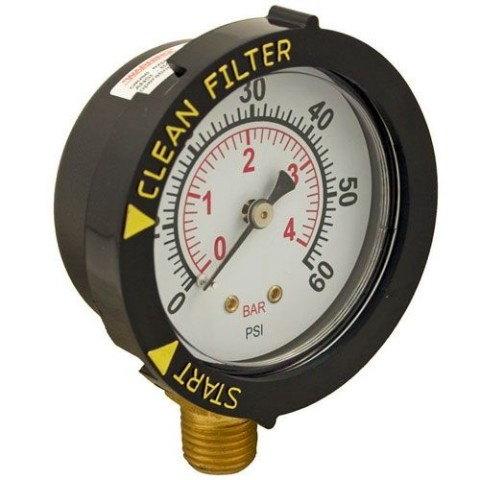 Pentair Bottom Mount Pressure Gauge 190058
