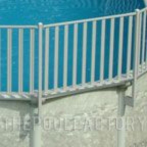 Sharkline Integrity Aluminum Fence Installation Close-Up