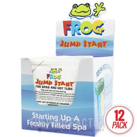 Frog Jump Start for Spas & Hot Tubs 1.5 oz. x 12 pack